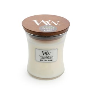 Woodwick White Tea & Jasmine Candle