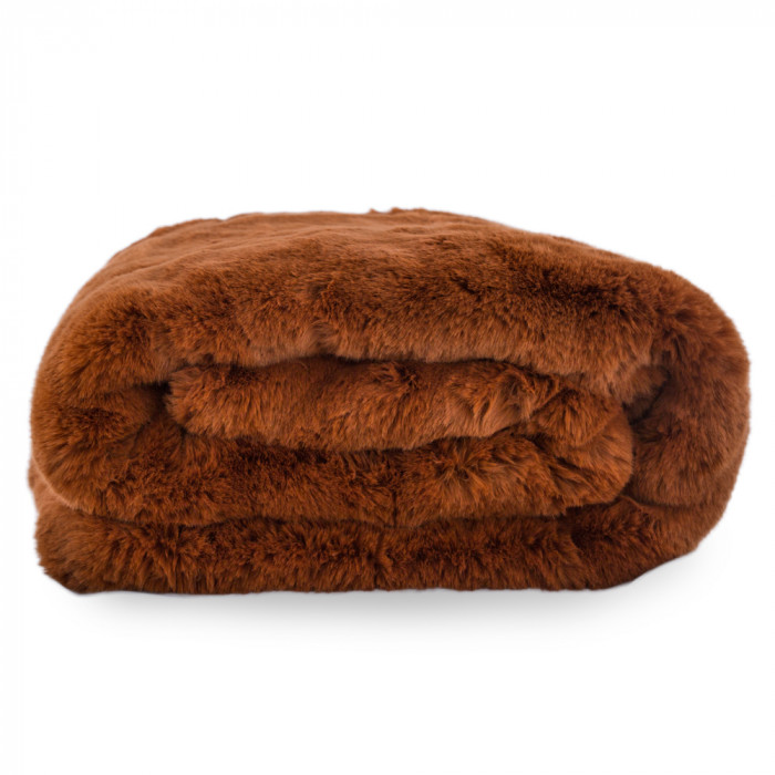 Russet Fur Throw