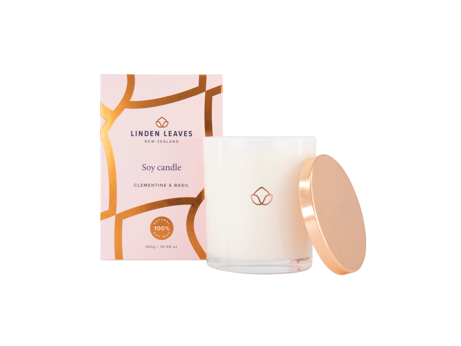 Clementine & Basil Candle