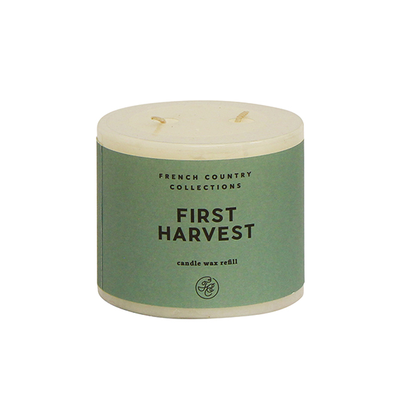 First Harvest candle wax refill