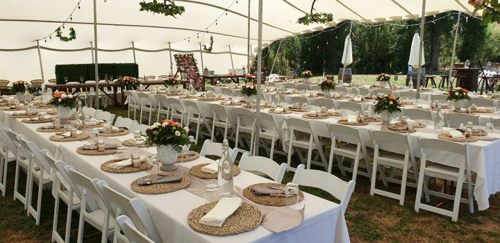 Wedding Flowers - table setting