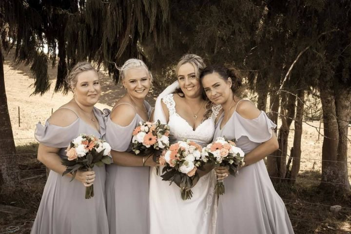 Wedding Flowers - bride and bridesmaids