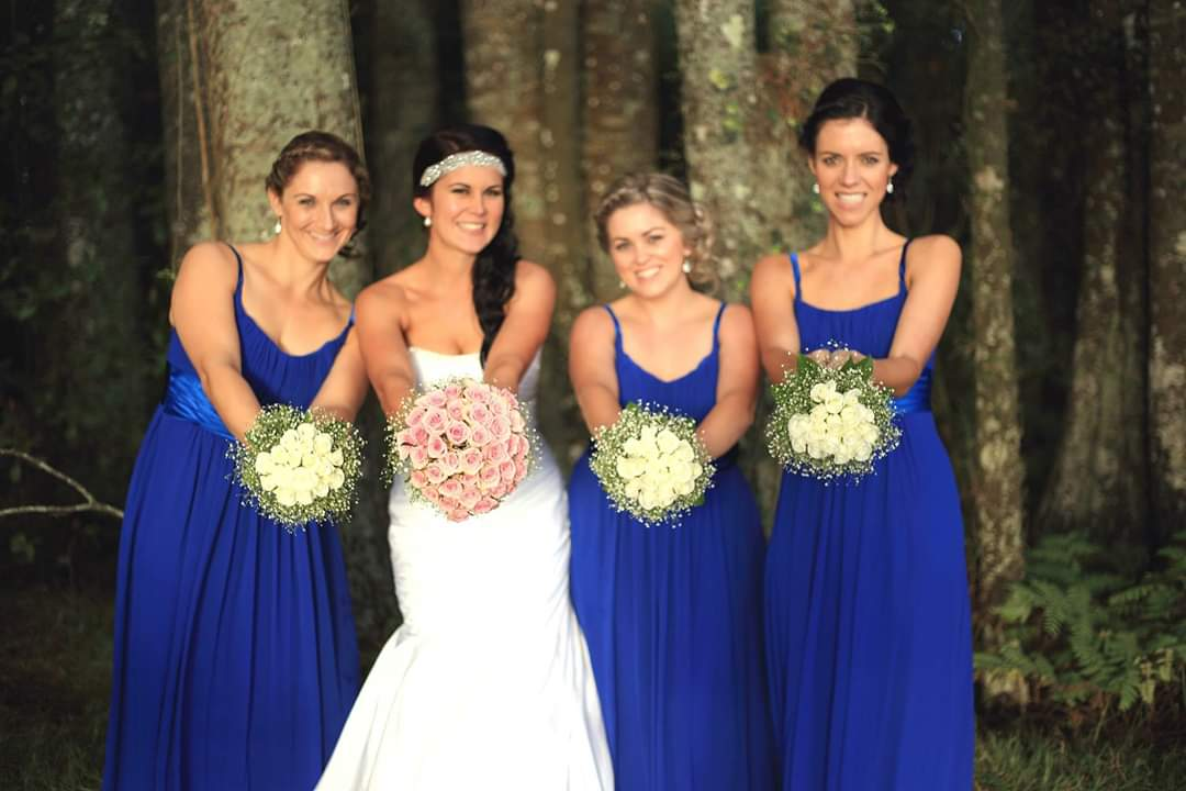 Wedding Flowers for royal blue colour theme