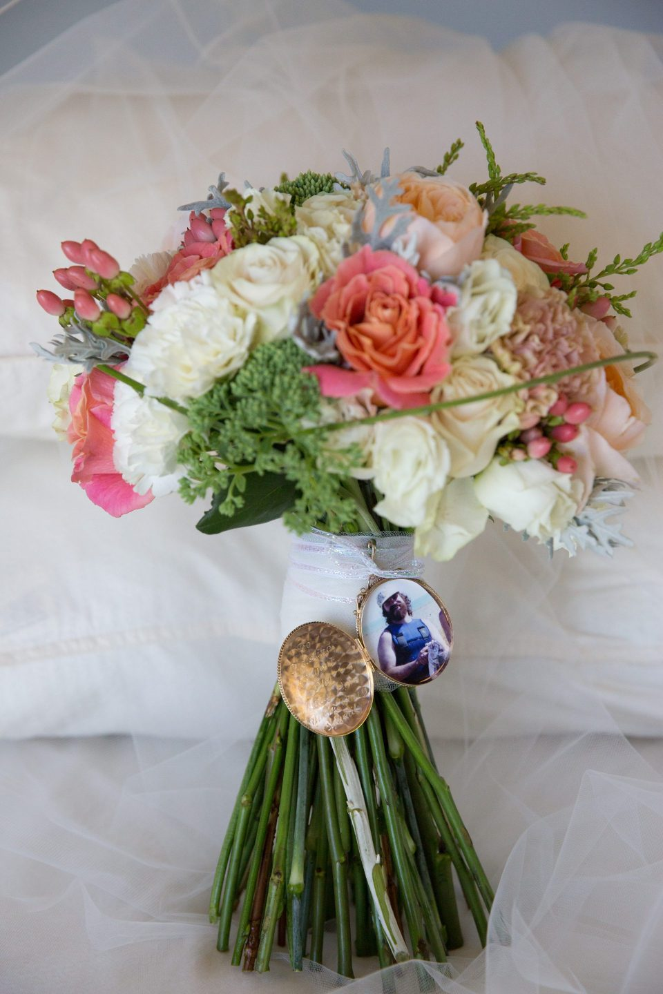 Chrissie and Rick - wedding bouquet charm