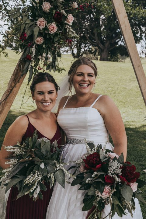 Stacey and Hamish bridal bouquets