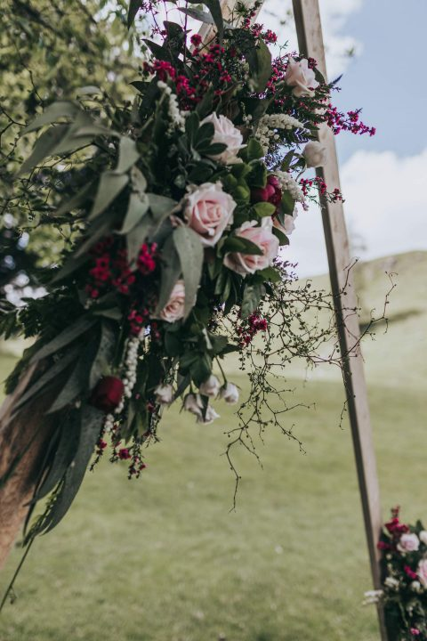 Stacey and Hamish wedding flower decoration
